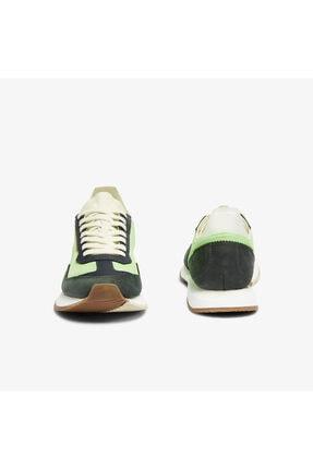 Lacoste Match Break 0721 1 G Sfa Kadın Açık Yeşil - Beyaz Sneaker 741SFA0105 4