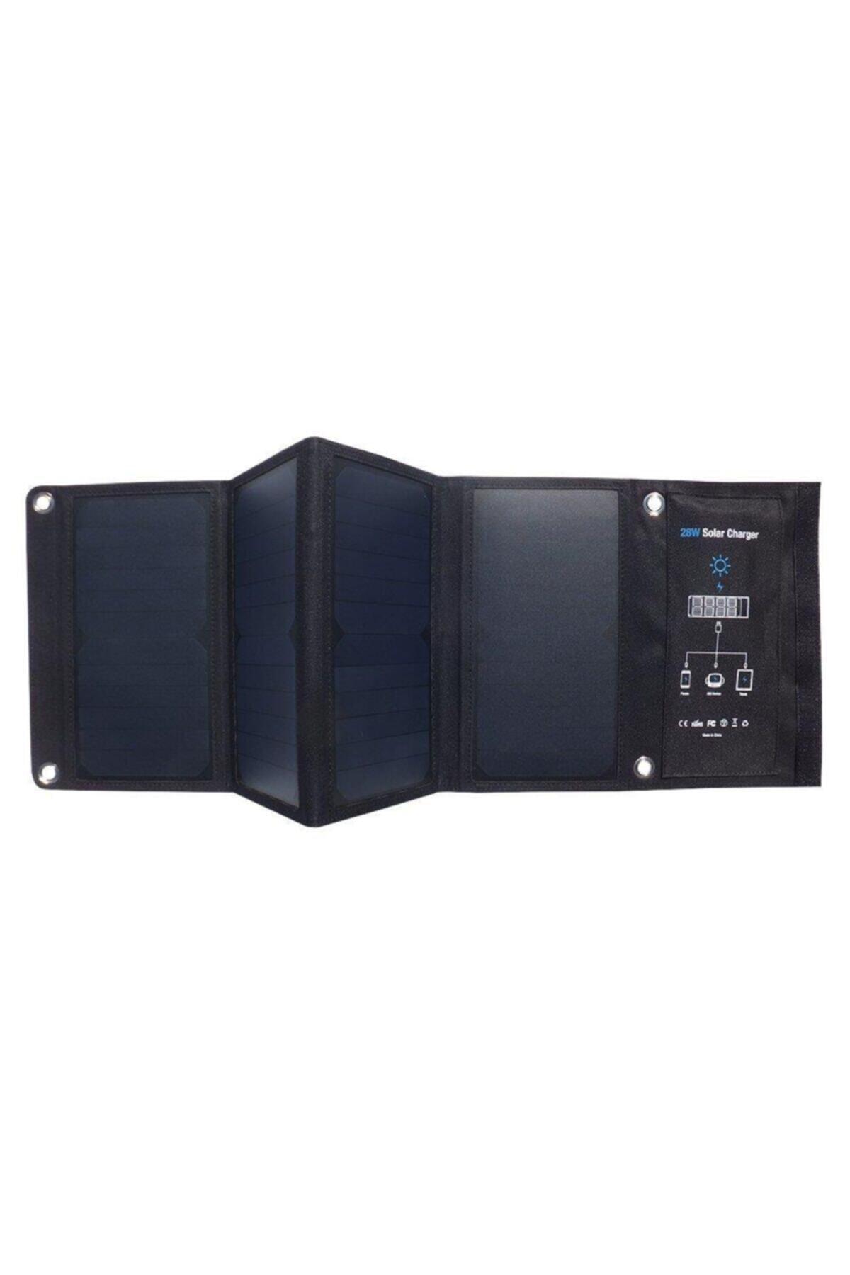 Juo 28w 4 Panelli Güneş Enerjili Katlanabilir Solar Şarj Aleti