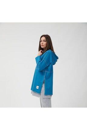 oia Kadın İndigo Pamuklu Tunik Pantolon Takım  W-0900 4