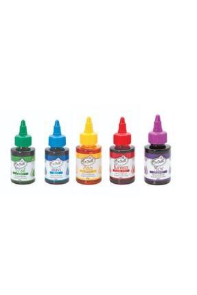 Dr. Gusto Dr Gusto 5 Li Sıvı Gıda Boyası 5 X 60 Gr Sarı Kırmızı Mavi Mor Yeşil 0
