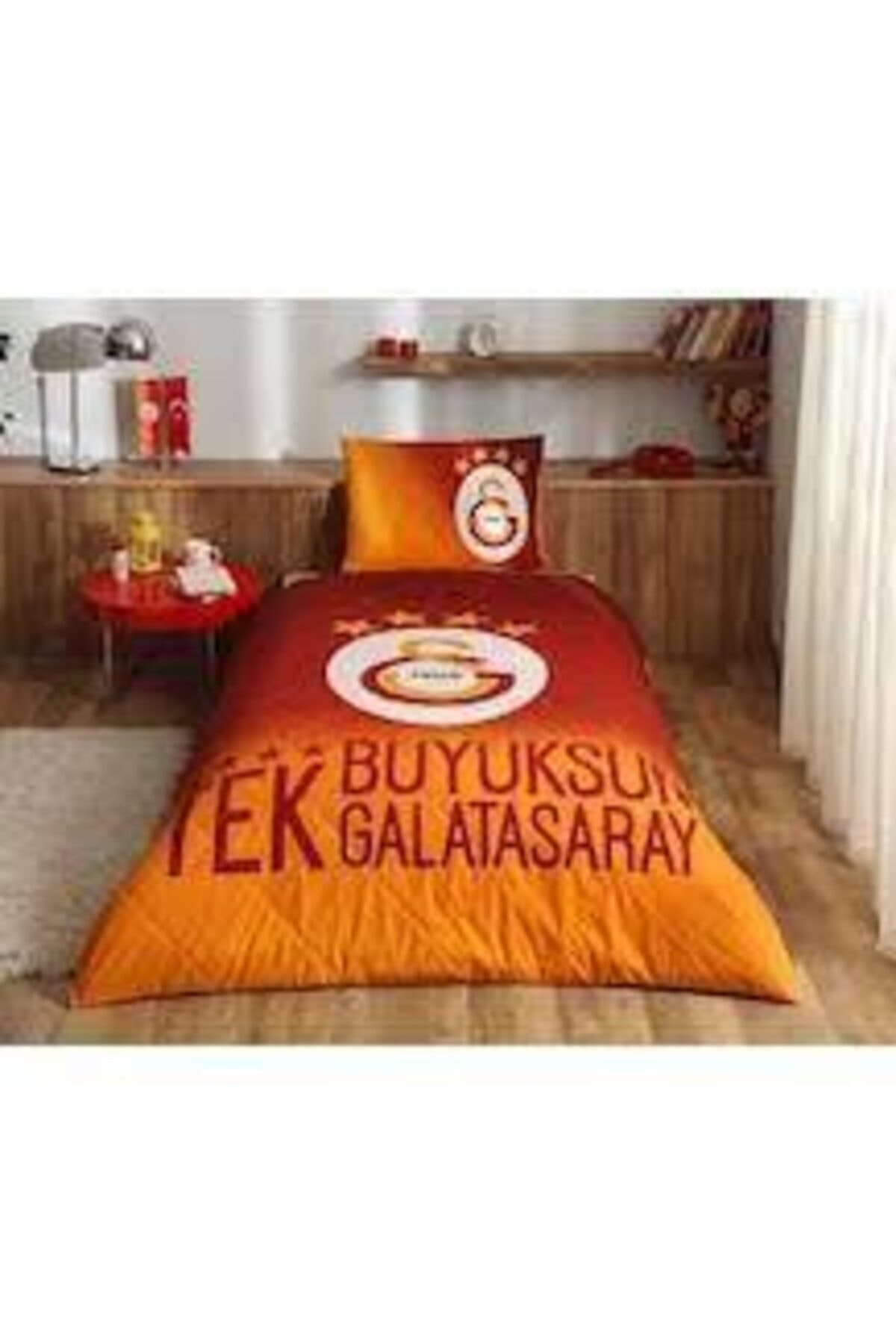 Lisanlı 4 Yıldız Galatasaray Yatak Örtüsü Takımı Orjinal