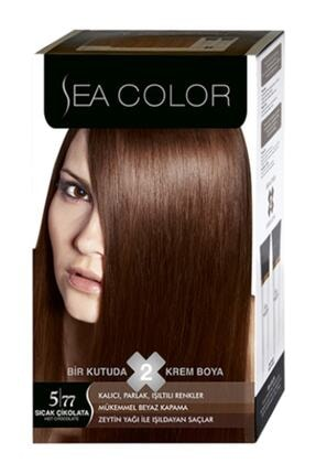Sea Color Set Saç Boyası 5/77 Sıcak Çikolata 0