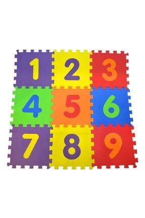 AVDA 9 Parça Büyük Boy Rakamlı Sayılı Eva Oyun Karosu Yer Matı Puzzle Yapboz 1