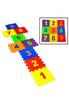 AVDA 9 Parça Büyük Boy Rakamlı Sayılı Eva Oyun Karosu Yer Matı Puzzle Yapboz 2