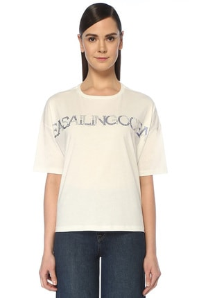 Beymen Club Sea Sailing Ocean Beyaz Taş Baskılı T-shirt 0