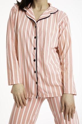 TAMPAP Gömlek Yaka Düğmeli Kadın Pijama Takımı 3010 3