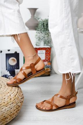 Muggo Infw312 Hakiki Deri Kadın Sandalet 2