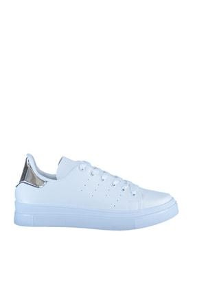 Soho Exclusive Beyaz Gumus Kadın  Sneaker 3