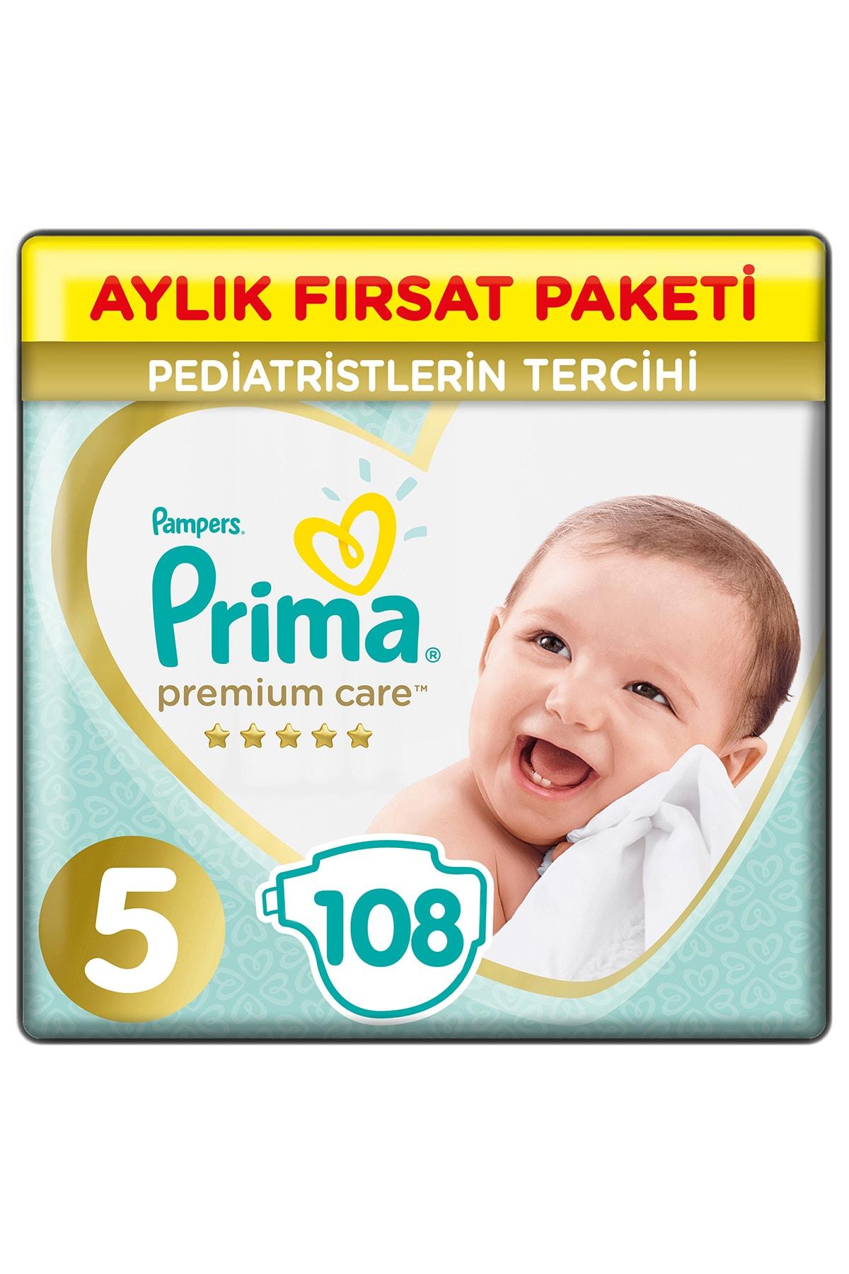 Bebek Bezi Premium Care 5 Beden 108 Adet Junior Aylık Fırsat Paketi