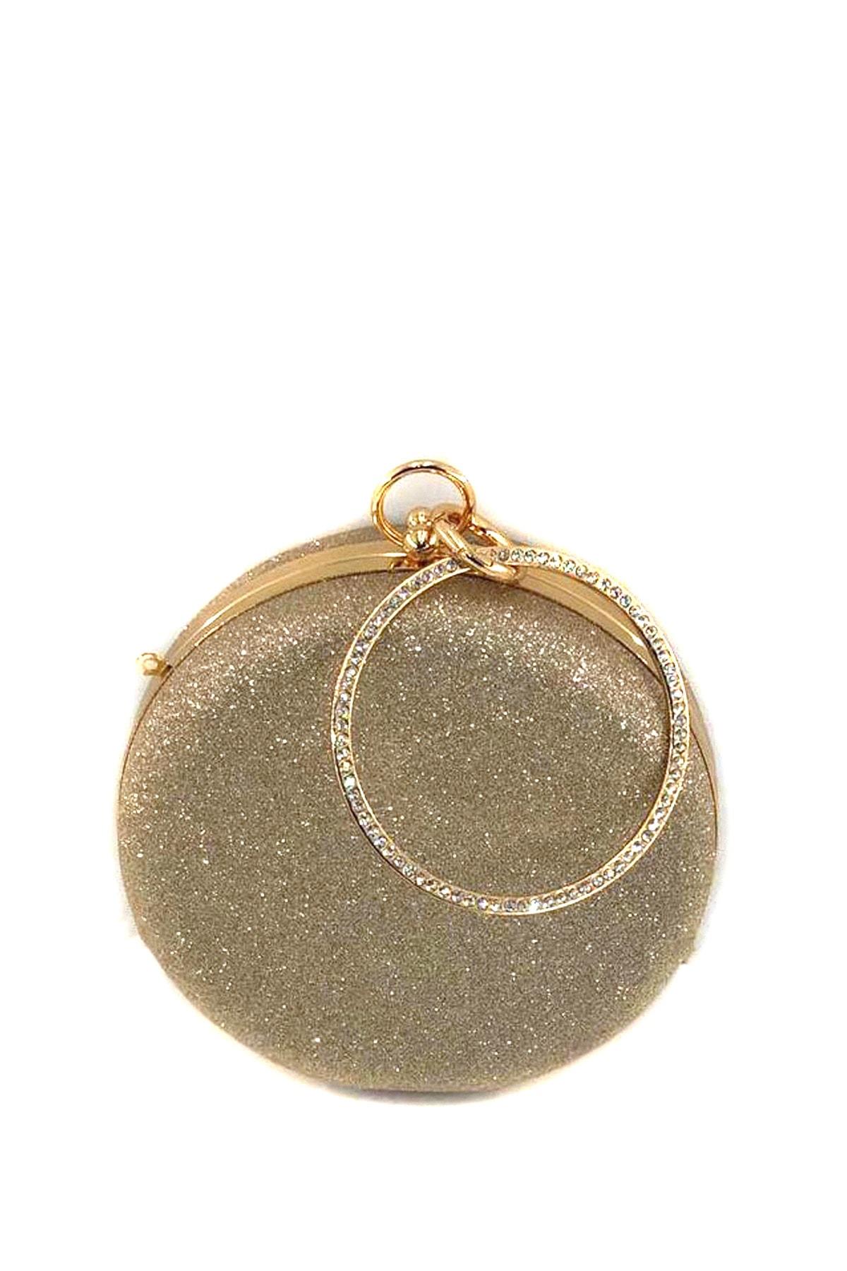 Modames Altın Kadın  Abiye Çanta B700111