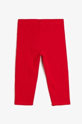 Koton Kız Kırmızı Düz Tayt 0YKG47896OK 1