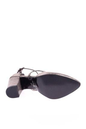 Dgn 1101 Kadın Sivri Burun Parmak Dekolteli Çapraz Bilekten Bağlı Topuklu Ayakkabı 20Y 3