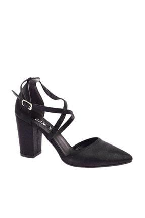 Dgn 1101 Kadın Sivri Burun Parmak Dekolteli Çapraz Bilekten Bağlı Topuklu Ayakkabı 20Y 0