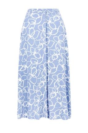 Marks & Spencer Kadın Mor Çiçek Desenli Düğmeli Midi Etek T59007245 3