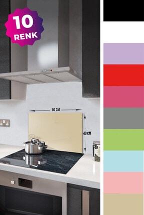 Decorita Düz Renk - Bej | Cam Ocak Arkası Koruyucu | 40cm x 60cm 1