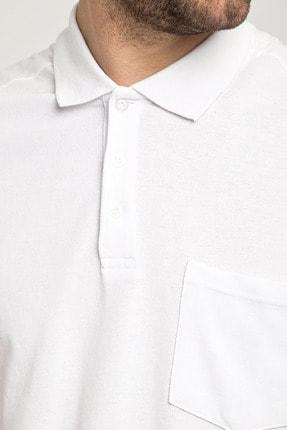 Kiğılı Erkek Beyaz Polo Yaka T-Shirt - Cdc01 3