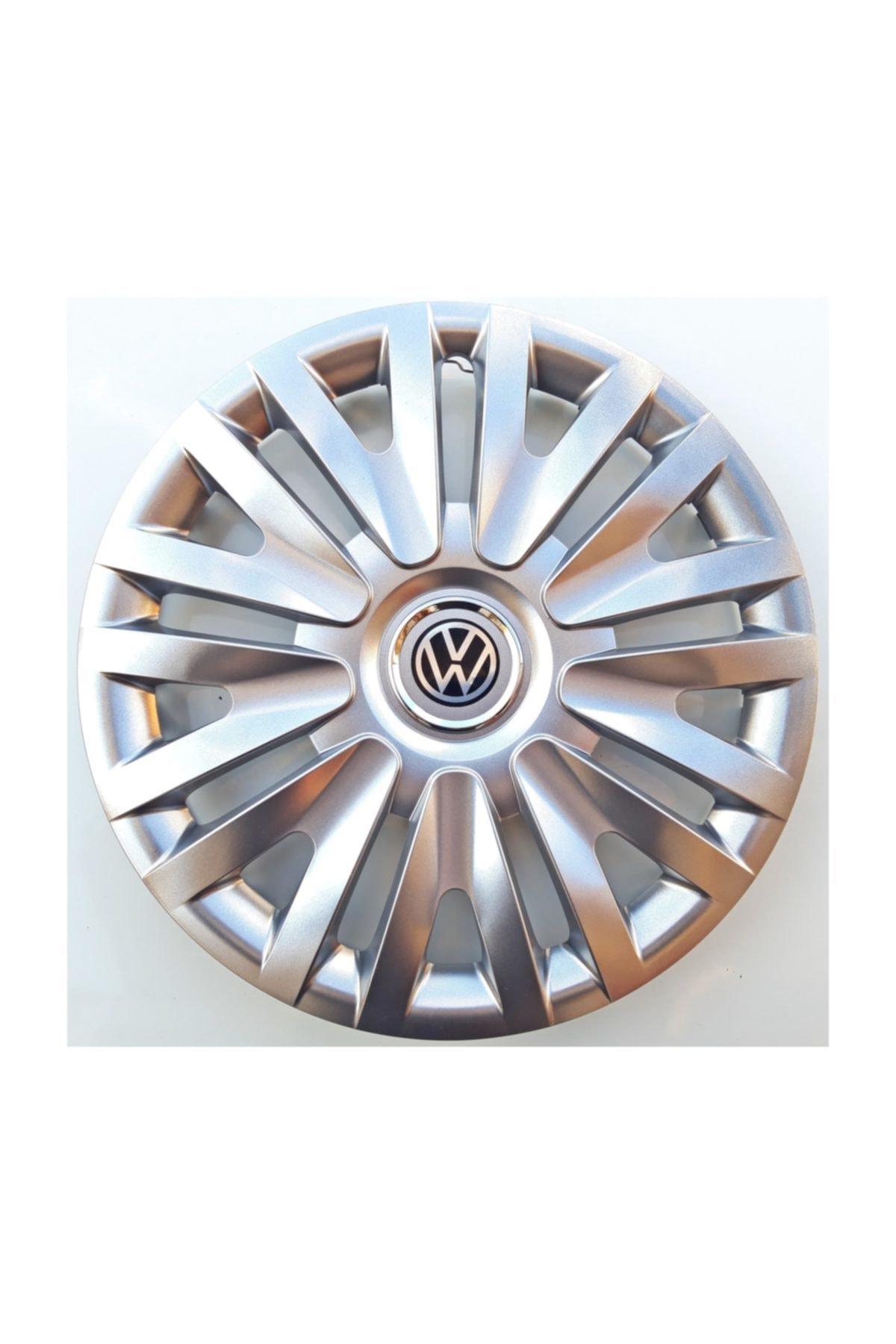 Volkswagen Polo - Golf - Bora 15'' Inç Jant Kapağı 4 Adet Kırılmaz Esnek - Amblem Hediyeli