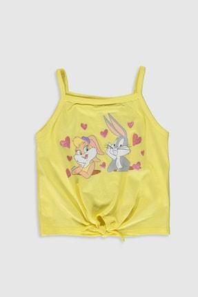LC Waikiki Looney Tunes Kız Bebek Sarı Fpr Bebek Takımları 2