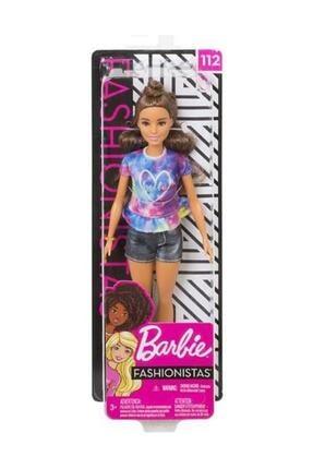 Barbie Fashionistas Bebek ve Aksesuarları Hello Tişörtlü FYB31-FBR37 1