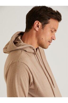 Dufy Vizon Kapüşonlu Kanguru Cepli Erkek Sweatshırt - Slım Fıt 1