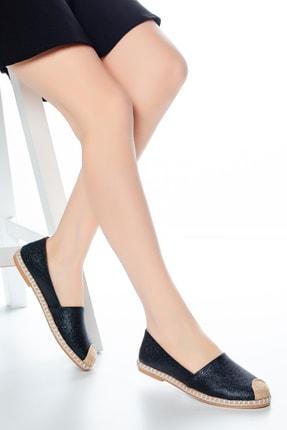 Moda Değirmeni Siyah Çatlak Kadın Babet Md1010-111-0001 0