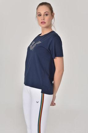 bilcee Lacivert Kadın T-Shirt GS-8623 2