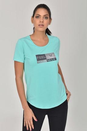 bilcee Turkuaz Kadın T-shirt  GS-8614 0