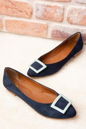 Fox Shoes Lacivert/Su Yeşili Kadın Babet H726900102 0