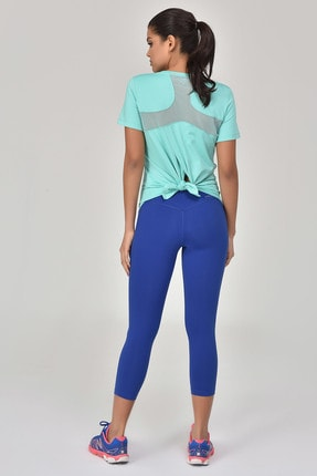 bilcee Turkuaz Kadın Sırt Detaylı Kadın T-Shirt GS-8110 2