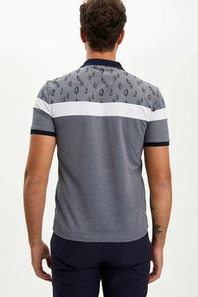 Defacto Erkek Çivit Mavisi Slim Fit Polo T-shirt M8179AZ.20SP.IN120 4