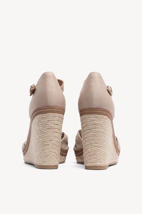 Tommy Hilfiger Kadın Gri Dolgu Topuklu Ayakkabı Iconıc Elena Sandal FW0FW00905 3