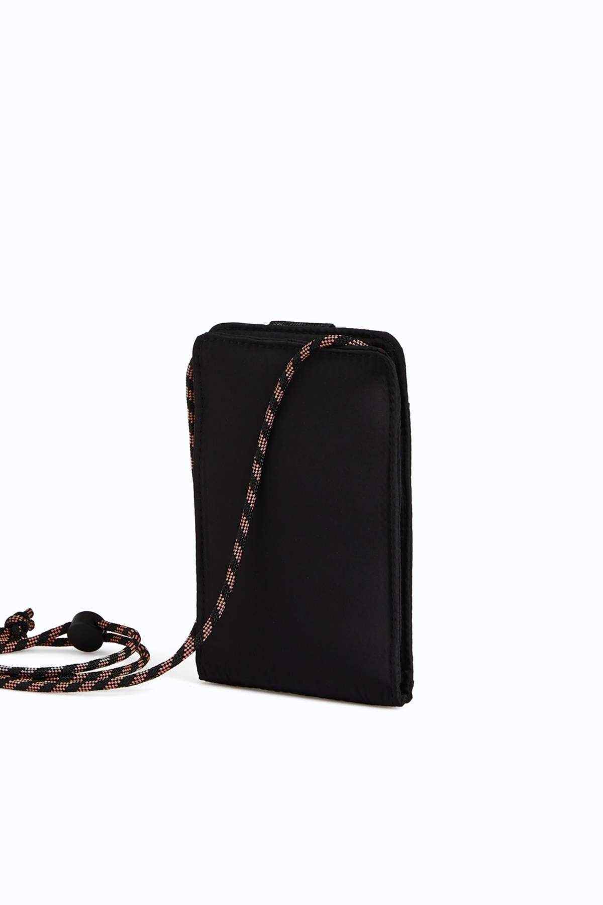 Oysho Kadın Siyah Omuz Askılı Cep Telefonu Çantası 1