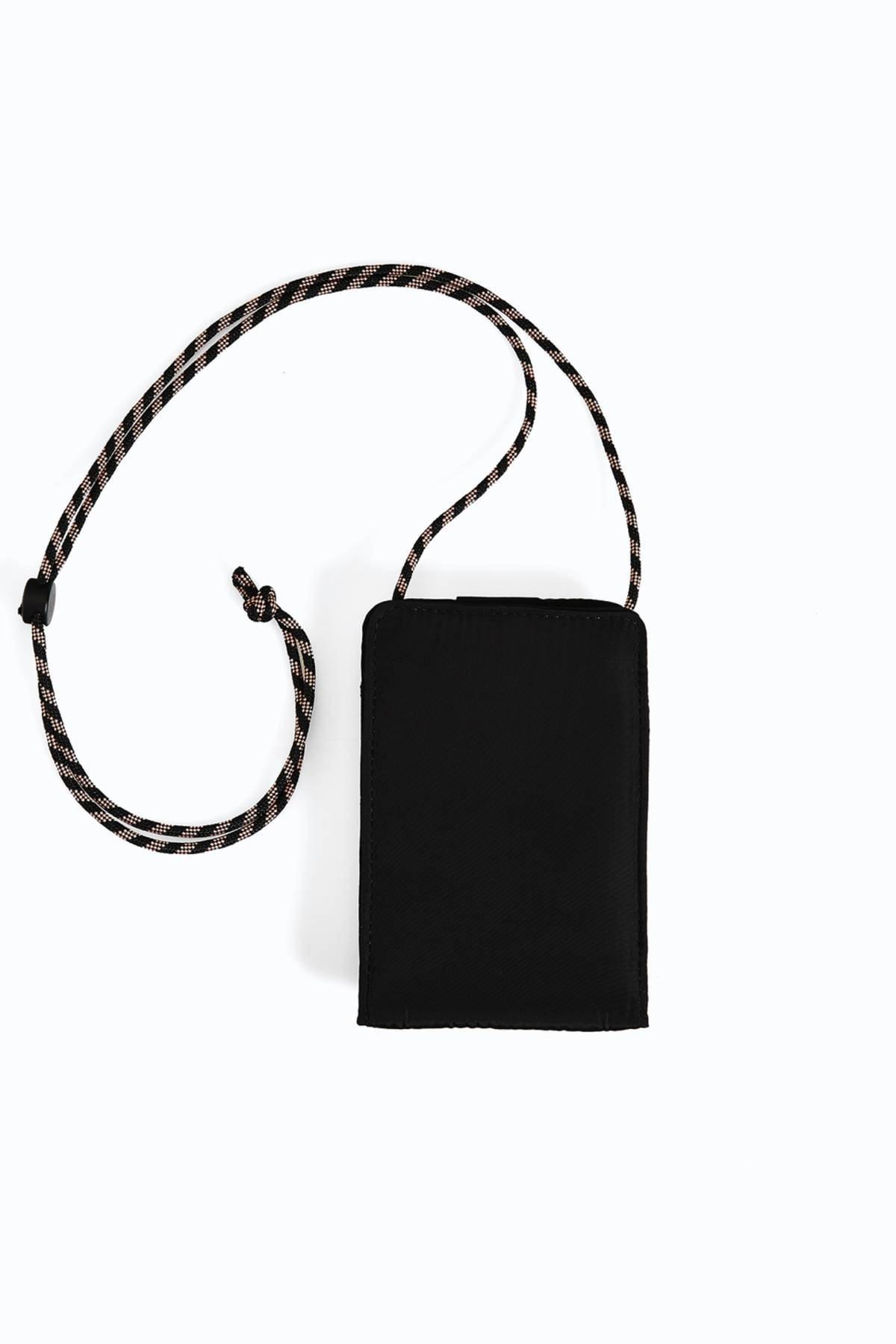 Oysho Kadın Siyah Omuz Askılı Cep Telefonu Çantası 2
