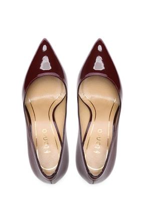 Kemal Tanca Bordo Kadın Vegan Stiletto Ayakkabı 723 5064 BN AYK Y19 3