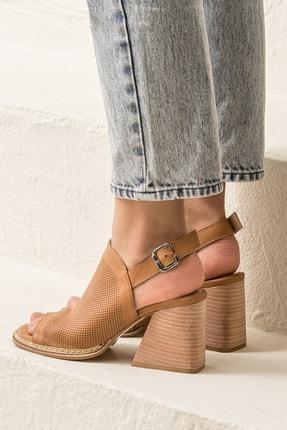 Elle PATRA Hakiki Deri Taba Kadın Sandalet 3
