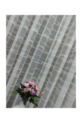 Esse Home Enine Çizgili Etek Ucu Desenli Tül Perde,  150x250, Normal Pile, 1/2.5 3