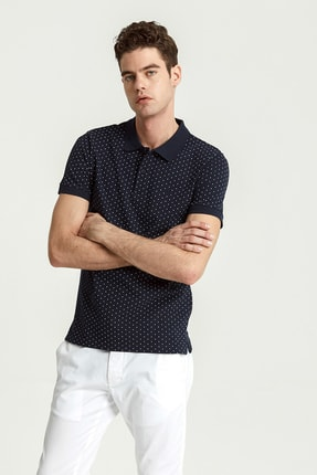 Ltb Erkek  Lacivert Polo Yaka T-Shirt 012208452960890000 0