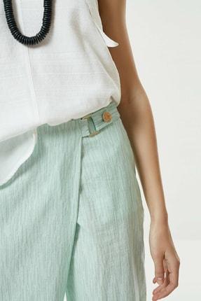 Yargıcı Kadın Nil Yeşili Toka Detaylı Pantolon 0YKPN3112X 1