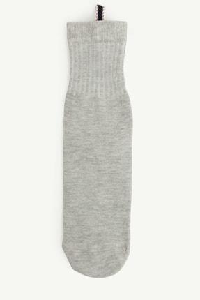 Yargıcı Kadın Gri Biye Detaylı Çorap 0YKCR4009X 0