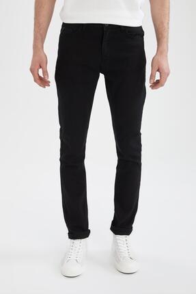 Carlo Skinny Fit Düşük Bel Dar Paça Siyah Jean Pantolon resmi
