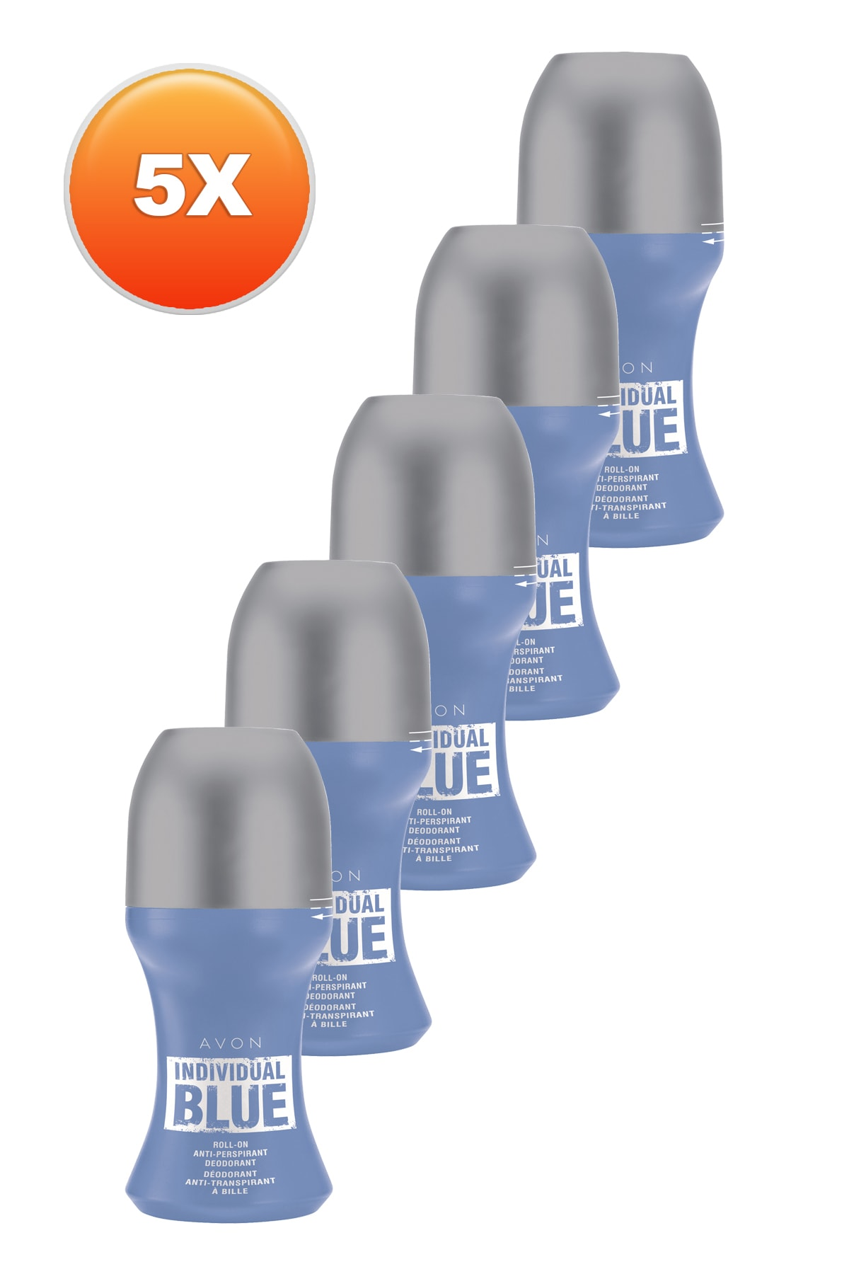 Individual Blue Erkek Rollon 50 ml 5'li Set 5050000105477