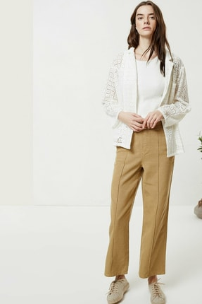 Yargıcı Kadın Kırık Beyaz Brode Ceket 0YKCK5150X 2