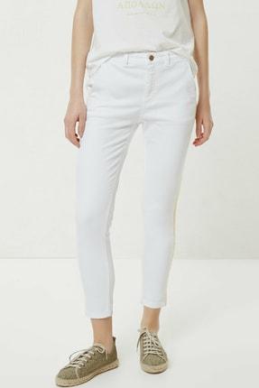 Yargıcı Kadın Beyaz Nakış Detaylı Denim Pantolon 0YKPN3123X 2