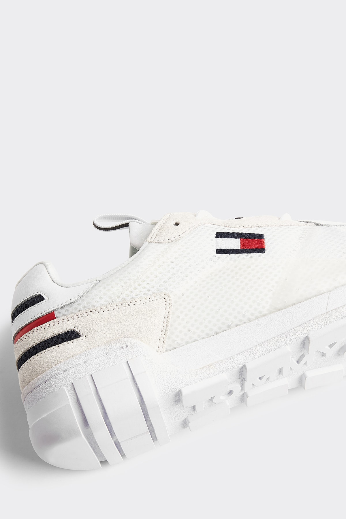 Tommy Hilfiger Erkek Beyaz Sneaker Retro Mesh Sneaker EM0EM00398