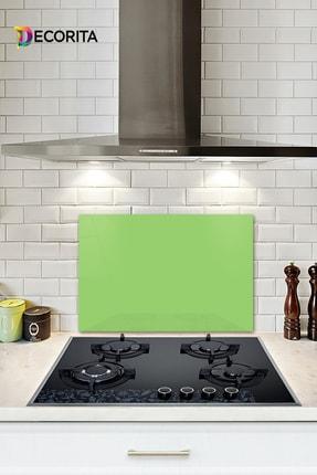 Decorita Düz Renk - Neon Yeşil | Cam Ocak Arkası Koruyucu | 40cm x 60cm 0