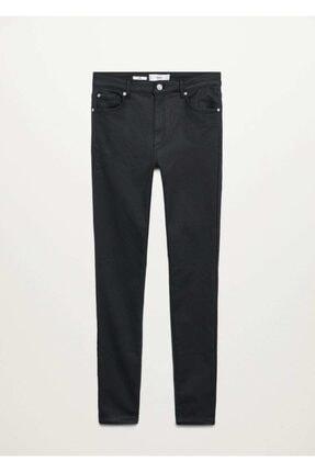 Mango Deri Görünümlü Yüksek Bel Noa Jean Pantolon 2