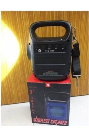 Teknoloji Gelsin Kts1185 Gri Bluetooth Hoparlör El Feneri Kablosuz Speaker Ses Bombası Askılı Mikrofon Girişli 2