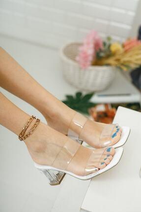 meyra'nın ayakkabıları Şeffaf Bant Ve Topuk Detay Topuklu Ayakkabı 0