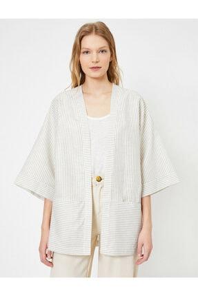 Koton Çizgili Kimono 2