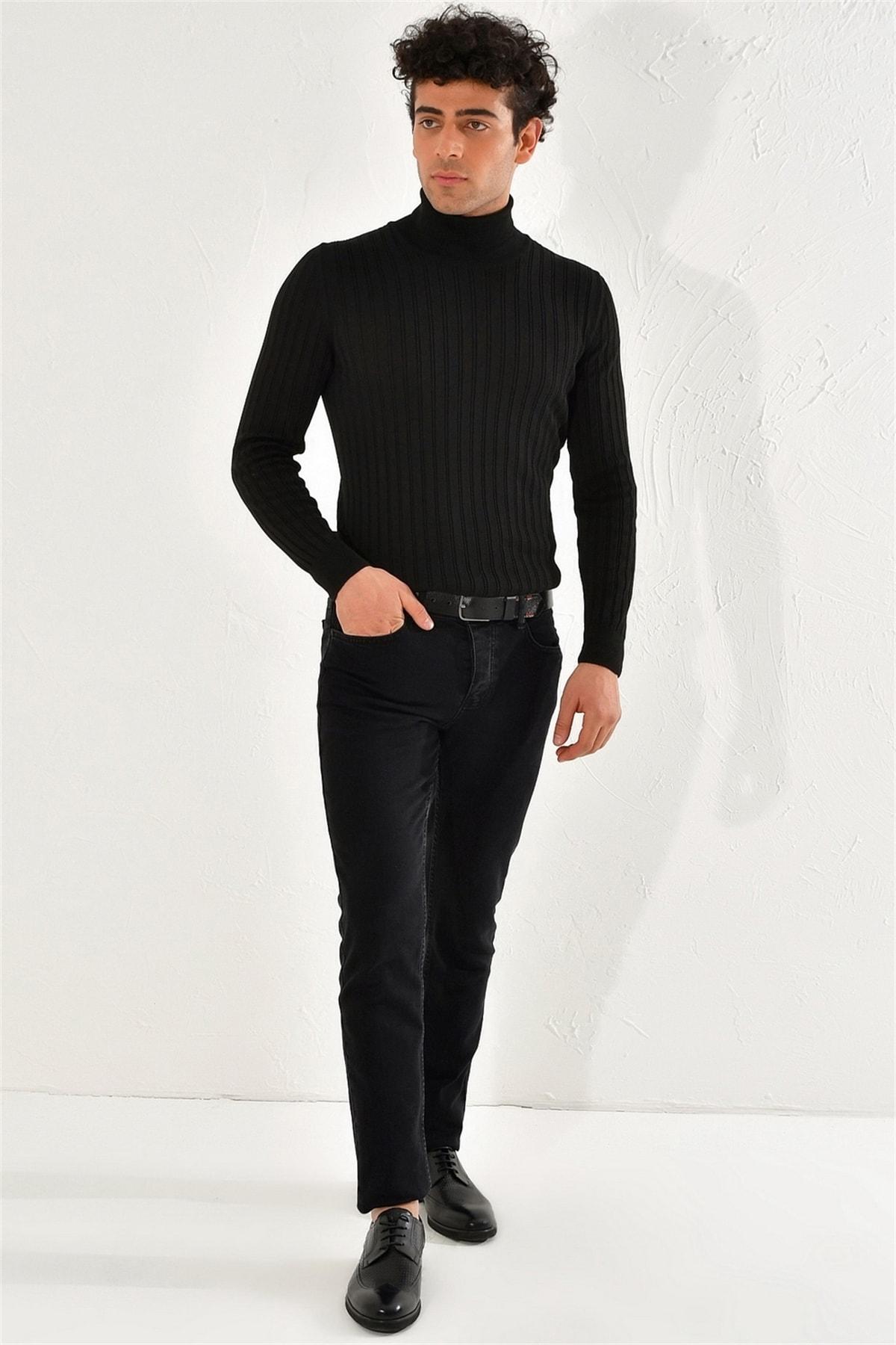 Efor 053 Slim Fit Siyah Jean Pantolon 2